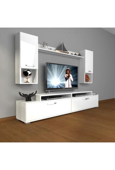 Decoraktiv Ekoflex 5da Slm Tv Ünitesi Tv Sehpası Parlak Beyaz
