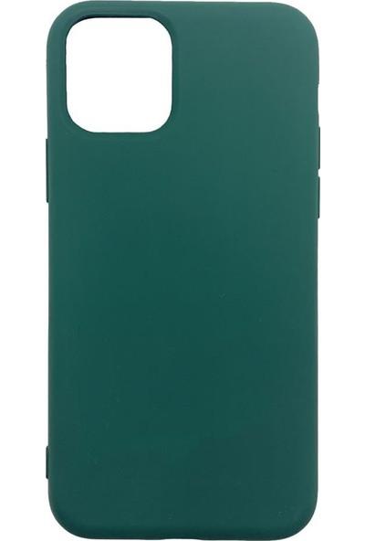 Zümrah Apple iPhone 11 Şeker Renkli Silikon Kılıf Kapak Koruma Haki