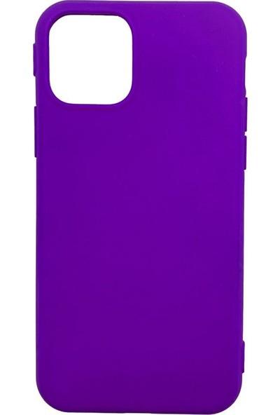 Zümrah Apple iPhone 11 Şeker Renkli Silikon Kılıf Kapak Koruma Mor