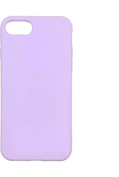 Zümrah Apple iPhone 6s Plus-iPhone 6 Plus Şeker Renkli Silikon Kılıf Kapak Koruma Lila