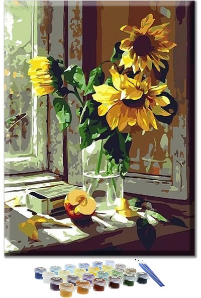 Sayılarla Boyama Seti - Günçiçeği