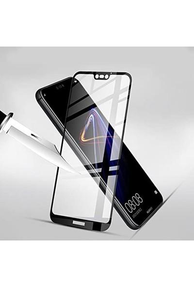 Herbütçeye Huawei P10 Lite Tam Kaplayan Fiber Nano Ekran Koruyucu Siyah