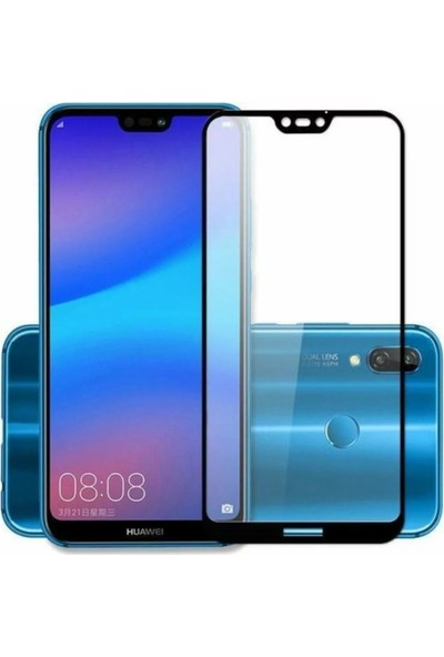 Herbütçeye Huawei Y5 2019 Tam Kaplayan Fiber Nano Ekran Koruyucu Siyah