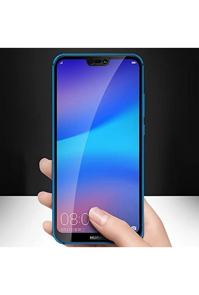 Herbütçeye Huawei Y9 Prime 2019 Tam Kaplayan Fiber Nano Ekran Koruyucu Siyah