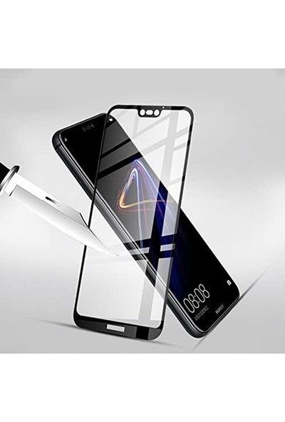 Herbütçeye Samsung Galaxy A7 2017 Tam Kaplayan Fiber Nano Ekran Koruyucu Siyah