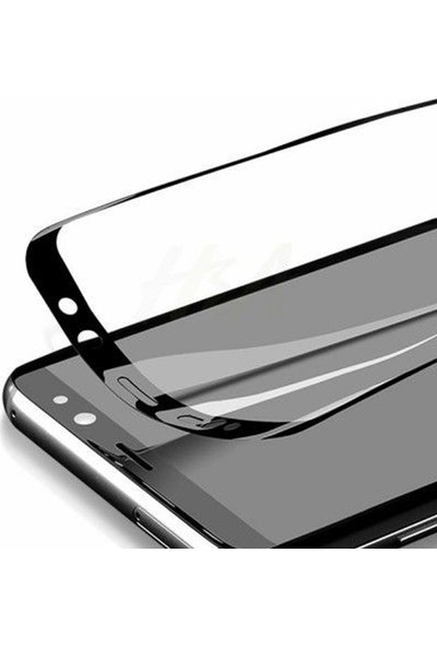 Herbütçeye Samsung Galaxy A9 2018 Tam Kaplayan Fiber Nano Ekran Koruyucu Siyah