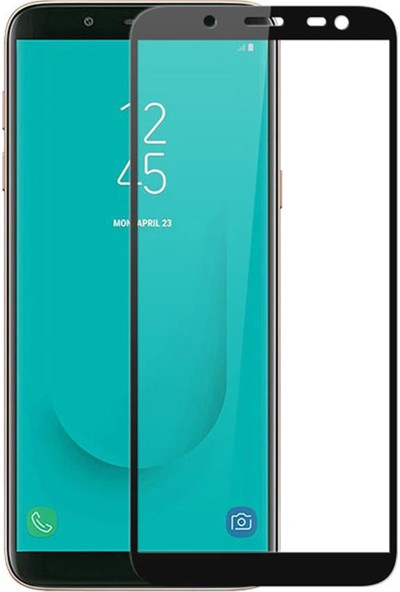 Herbütçeye Samsung Galaxy J4 Plus Tam Kaplayan Fiber Nano Ekran Koruyucu Siyah
