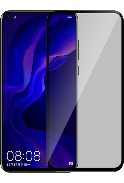 Case Street Huawei Nova 5T Privacy Gizlilik Filtreli Hayalet Cam Siyah