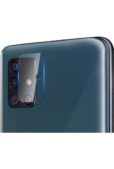 Case Street Samsung Galaxy A71 Kamera Lens Koruyucu Nano Koruyucu Şeffaf