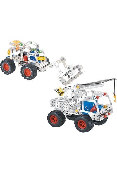 Aelo Toys Vidalı Metal Yapı Oyuncağı Kepce No 3111 + Kancalı Vinc No 3114