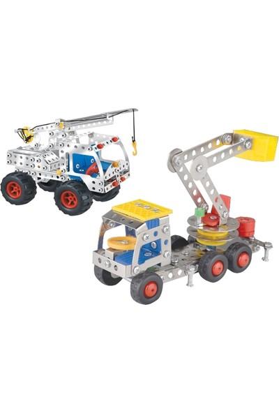 Aelo Toys Vidalı Metal Yapı Oyuncağı Kancalı Vinc No 3114 + Normal Vinc No 866