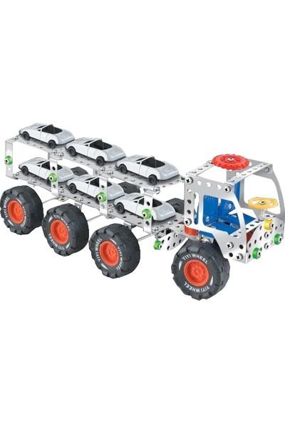 Aelo Toys Vidalı Metal Yapı Oyuncağı Oto Tasıyıcı Tır No 3112