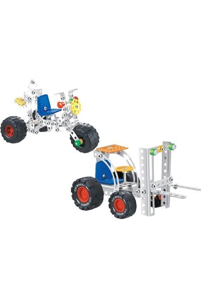 Aelo Toys Vidalı Metal Yapı Oyuncağı Forklift No 3119 + Motor No 3120