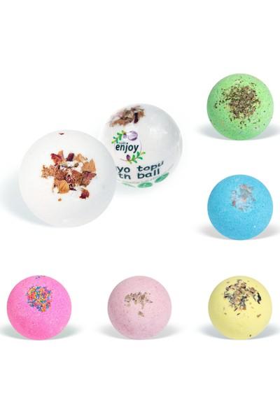 Suds Enjoy Banyo Topu Doğal Pembe Düşler El Yapımı Banyo Bombası 100 gr