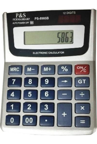 Kadıo KD-8985B Hesap Makinesi Ofis Masaüstü 12 Haneli Digital