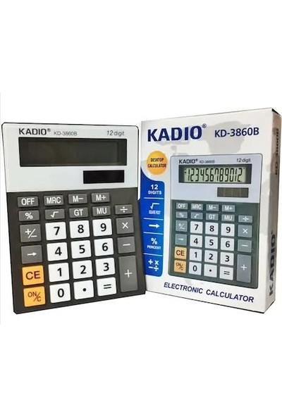 Kadıo Ofis Masaüstü Digital Hesap Makinesi KD-3860B