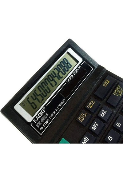 Kadıo Ofis Masaüstü 12 Haneli Digital Hesap Makinesi KD-6001