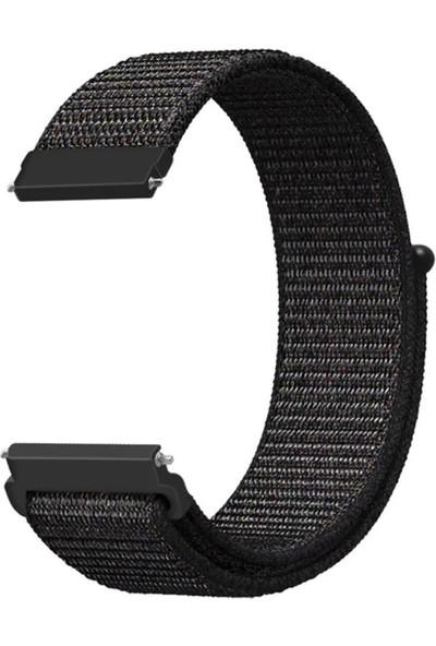 Gpack Samsung Galaxy Active 2 44mm Kordon Kumaş CırtCırt Kordon Velcro Siyah