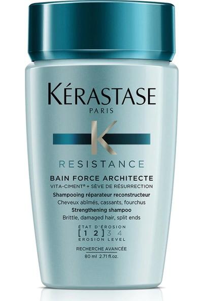 Kerastase Resistance Bain Force Archıtecte-Yıpranmış Saçlar Için Kuvvet Banyosu (1-2) 80 ml