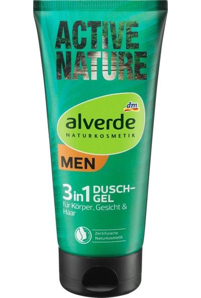 Alverde Aktive Nature 3in1 Erkek Saç , Vücut , Yüz Yıkama Jeli 200 ML