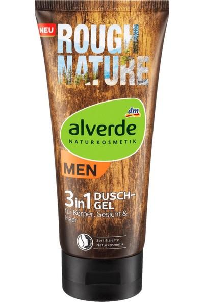 Alverde Rough Nature 3in1 Erkek Saç , Vücut , Yüz Yıkama Jeli 200 ML