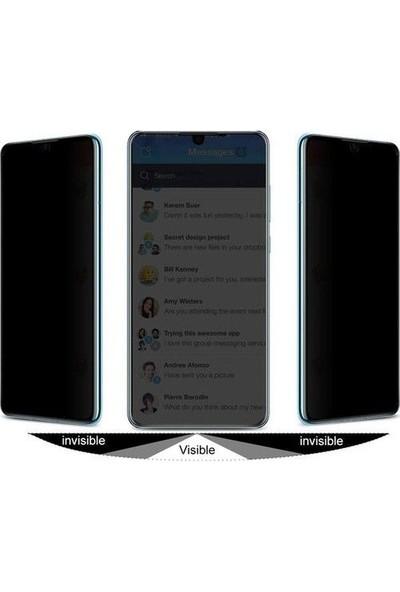 Tbkcase Oppo A5 2020 Tam Kapatan Privacy Hayalet Cam Ekran Koruyucu Siyah