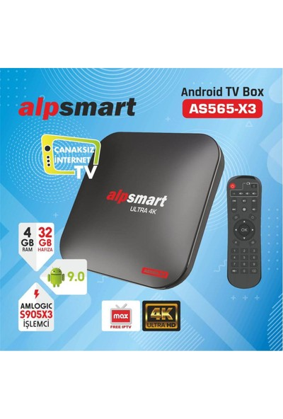 Alpsmart AS565-X3 Android Tv Box
