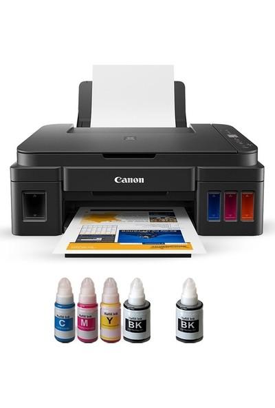 Canon G3411 Photoink Mürekkepli Tanklı Wifi Yazıcı (1 Siyah Mürekkep ve Fotoğraf Kağıdı Hediyeli)