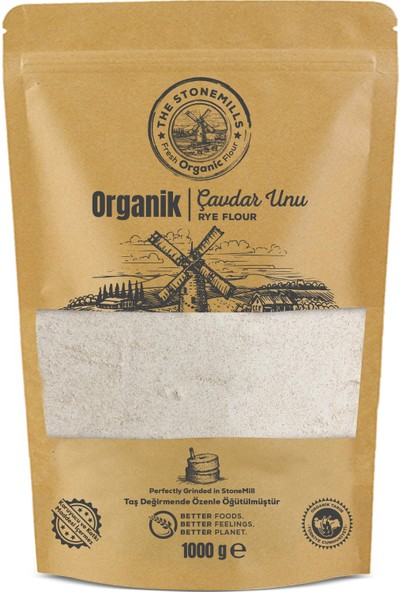 Thestonemills Organik Taş Değirmen Çavdar Unu 1 kg
