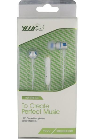 Yujı Y992 Mono 3.5 mm Kablolu Mikrofonlu Kulakiçi Kulaklık