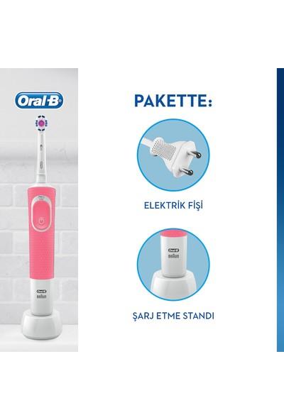 Oral-B Vitality 100 3D White Pembe Şarjlı Diş Fırçası