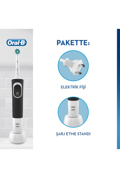 Oral-B D100 Şarjlı Black Crossaction Diş Fırçası