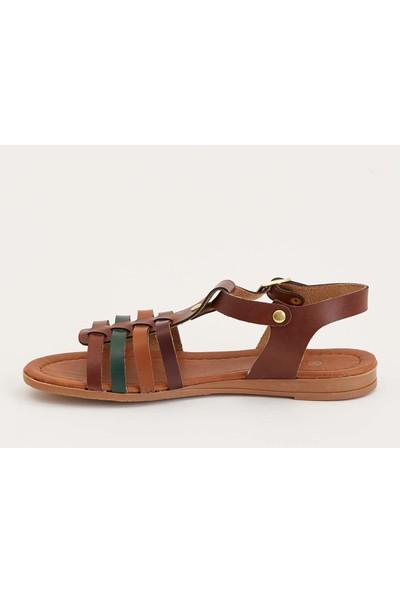 Defacto Deri Görünümlü Sandalet