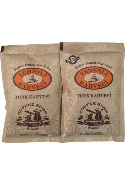 Yemenli Kahveci Türk Kahvesi + Çikolatalı Kahve 100 gr 2'li