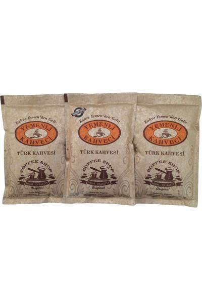 Yemenli Kahveci Türk Kahvesi + Hindistan Cevizli Kahve (3X100GR)
