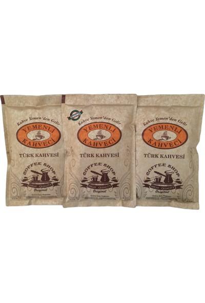 Yemenli Kahveci Türk Kahvesi + Fındıklı Kahve (3X100GR)