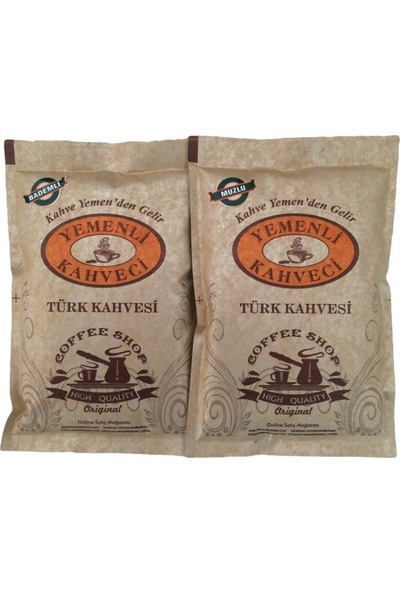 Yemenli Kahveci Muzlu & Bademli Türk Kahvesi (2X100GR)