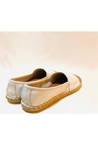 Gloria Beyaz Dore Simli Ayakkabı
