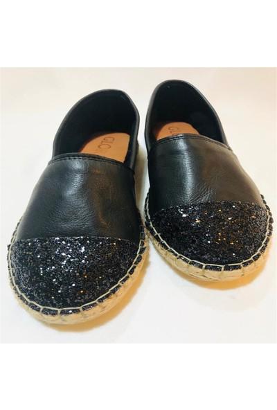 Gloria Siyah Simli Ayakkabı