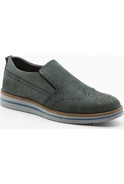 Grotto G2141602113 Gri Nubuk Deri Erkek Ayakkabı