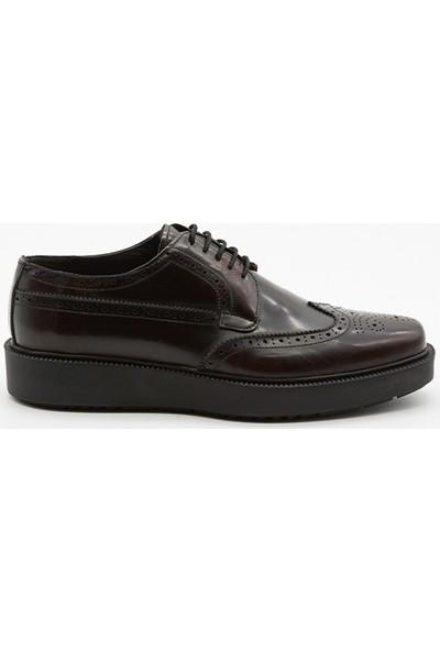 Grotto G2142007214 Bordo Açma Deri Erkek Ayakkabı