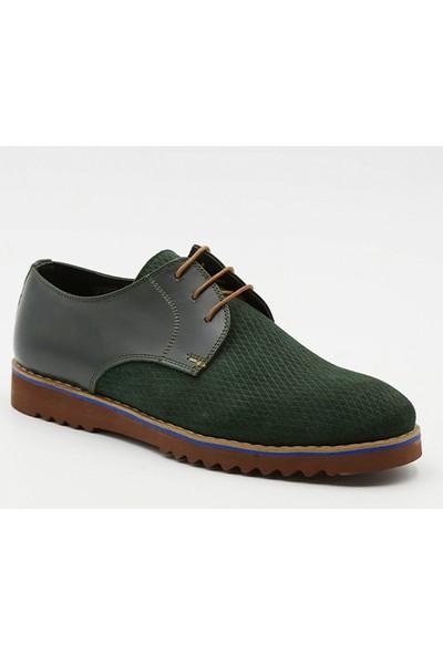 Grotto G2150261917 Yeşil Nubuk Deri Erkek Ayakkabı