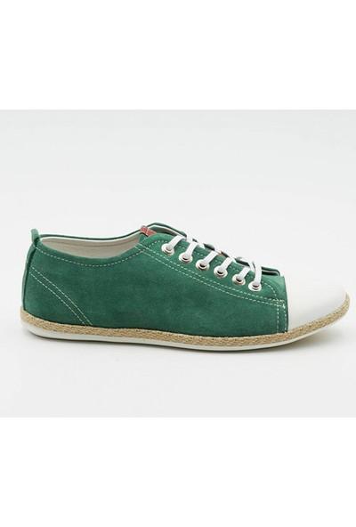 Grotto G48TA1417 Yeşil Süet Deri Erkek Ayakkabı