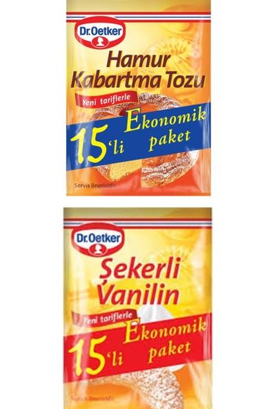 Dr. Oetker Dr.oetker 15'li Set (15 Şekerli Vanilin + 15 Hamur Kabartma Tozu)
