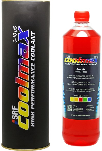 SRF Coolmax Bilgisayar Soğutma Sıvısı Kristal Kırmızı 1 lt