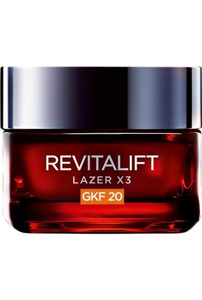 L'Oréal Paris Revitalift Lazer X3 Leke ve Kırışıklık Karşıtı Bakım GKF20