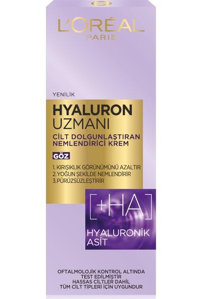 L'oréal Paris Hyaluron Uzmanı Cilt Dolgunlaştıran Nemlendirici Göz Kremi 15ML