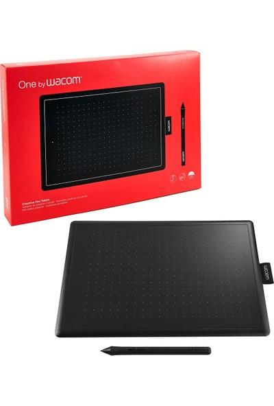 One By Wacom Medium 10.9 x 7.4inç Yüksek Hassasiyetli Grafik Tablet (CTL-672)