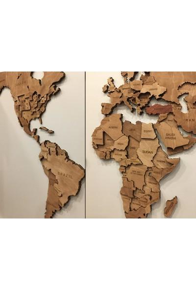 Mapofx Ahşap Dünya Haritası