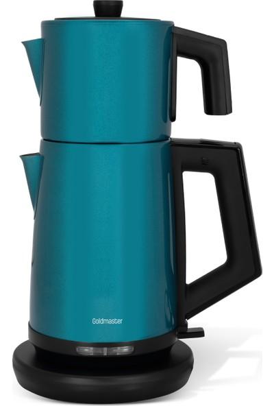 Goldmaster IN-6302Y Teachef Yeşil Çay Makinesi & Su Isıtıcı